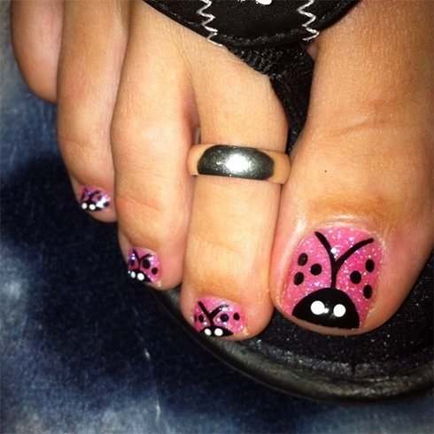 Bug Toenail Designs