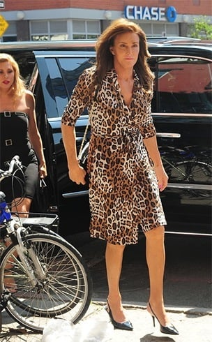 Caitlyn in animal print dress