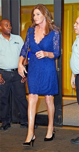 Caitlyn in royal blue lace dress