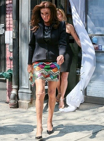 Caitlyn in sequined skirt