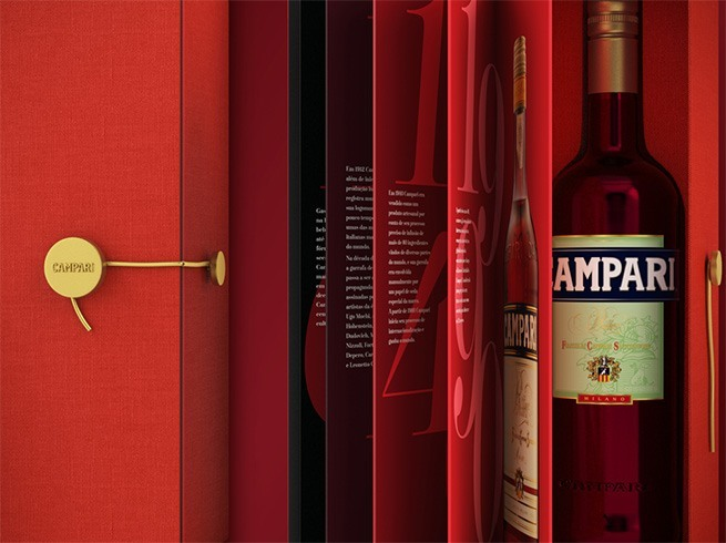 Campari Gift Box Graphic