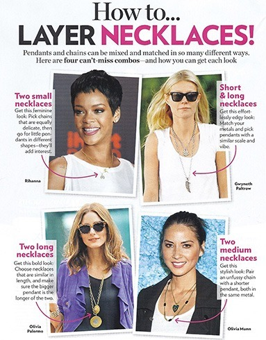 Celebs in layer necklace