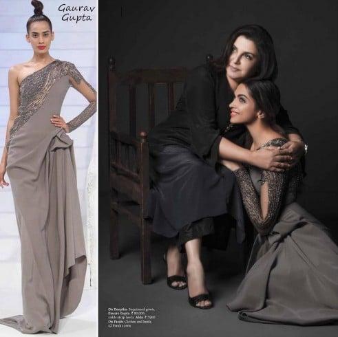 Deepika in Gaurav Gupta gown
