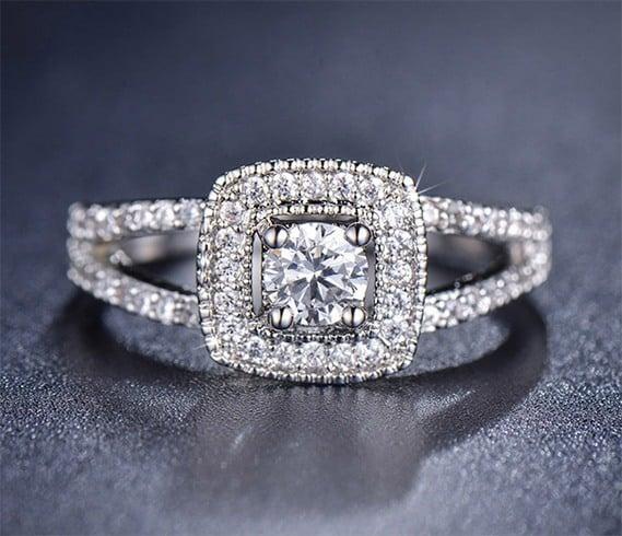 Diamond ring for bridesmaid