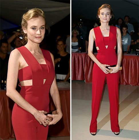 Diane Kruger in cut out jumpsuit