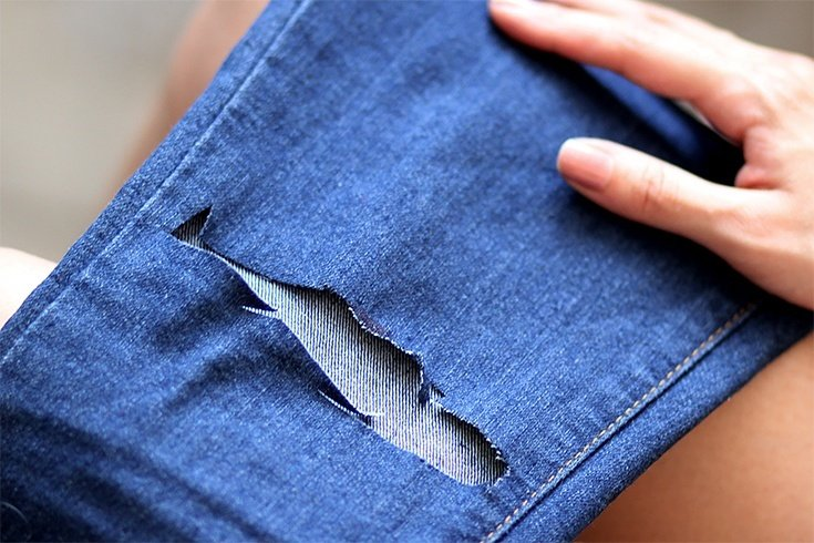 distressing jeans at home