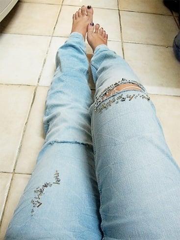 distressing jeans techniques
