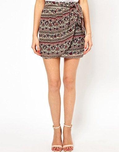 Draped Twisted Skirt Sarong