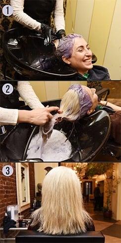Dyed gray hair toner