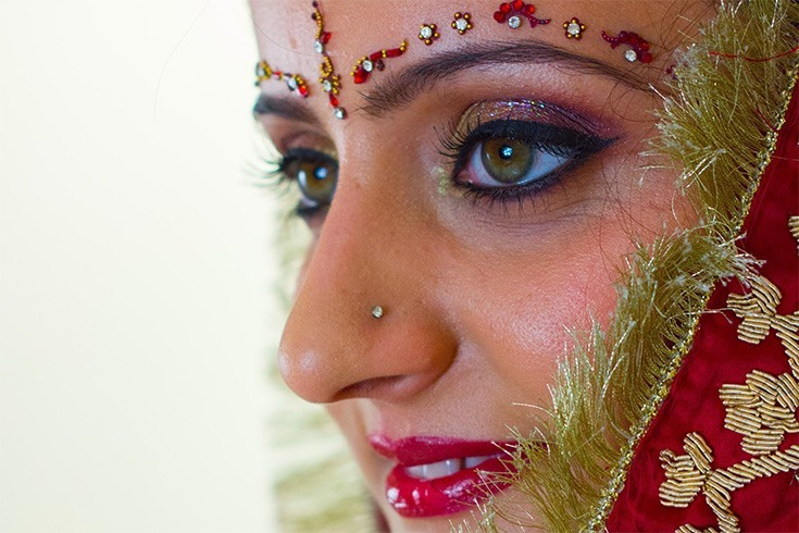 Eye Makeup in Summer Wedding