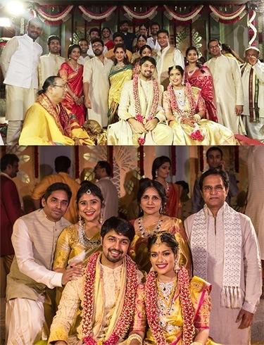 Family Photo at Srija Marriage