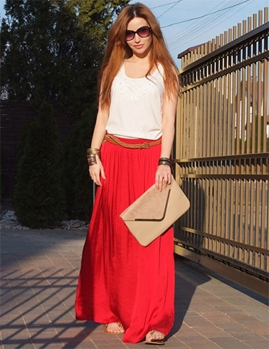 Tips for Wearing Long Skirts