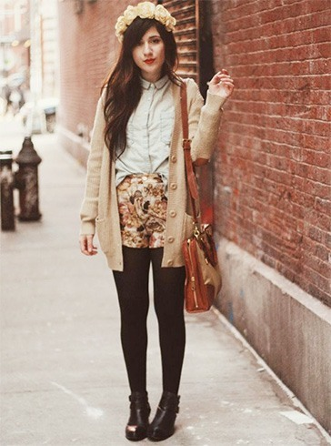 Floral Shorts and Cardigans