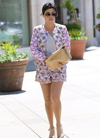 Floral Shorts and Floral Jacket