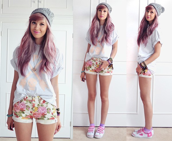 Floral Shorts Fashion
