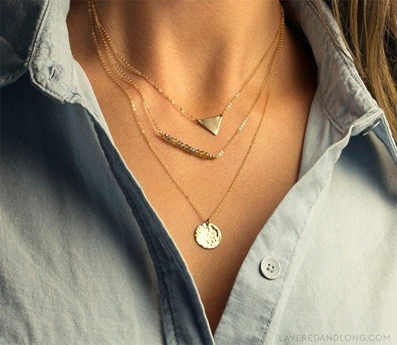 Gold layer necklaces