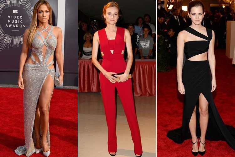 Hollywood Celebs in Cut Out Dresses at Red Carpets