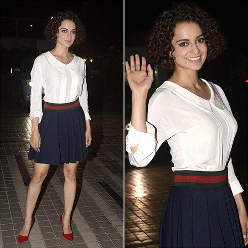 Kangana School Girl Look