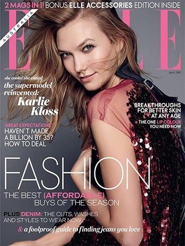 Karlie Kloss In Elle Australia