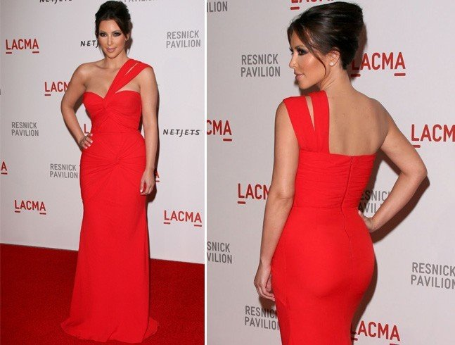 Kim Kardashian in Red Gown