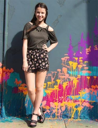 Lace Floral Shorts