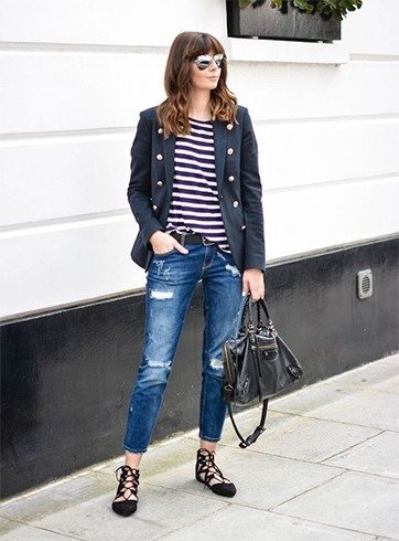 Lace Up Flats Outfit