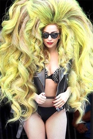 Lady Gaga Colorful Wig