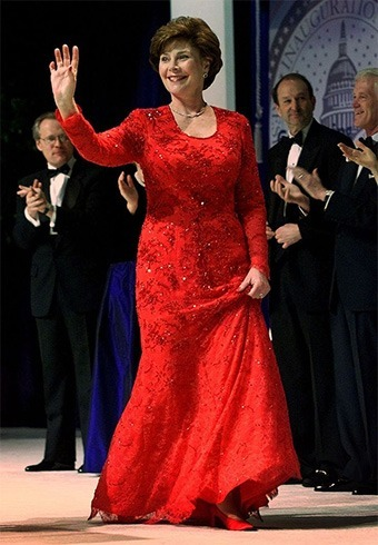 Laura Bush inaugural gown