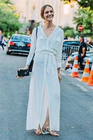 White Shirt Dress for Summer