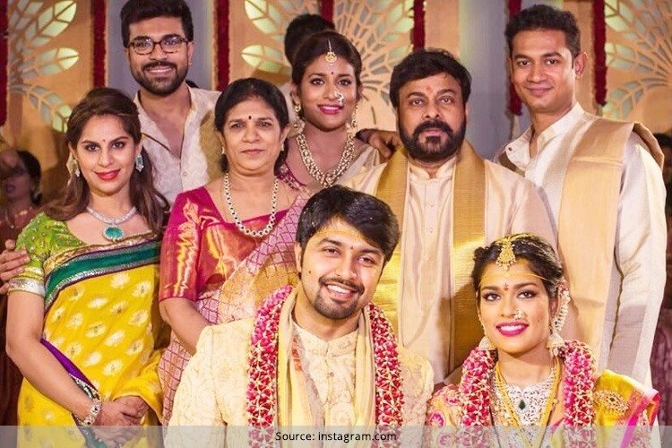 Mega Star Celebrates Srija Wedding