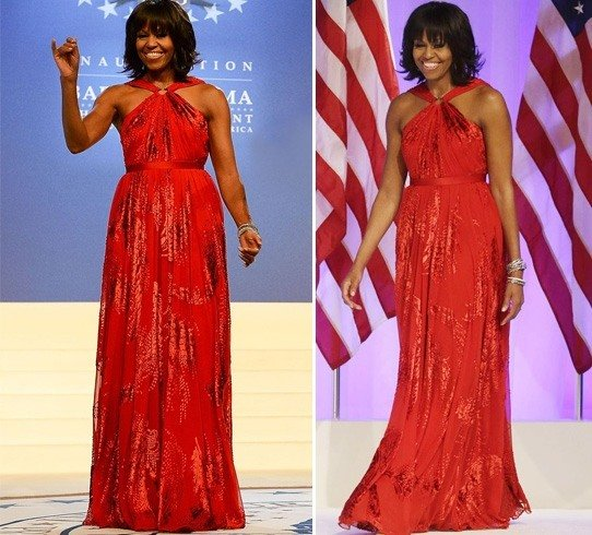 Michelle Obama inaugural sleeveless ball gown