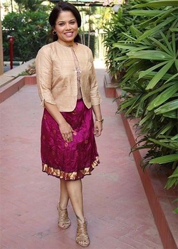 Midi Skirts From Silk Sarees