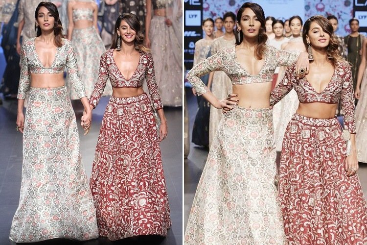 Monica Dogra and Shibani Dandekar walk at 2016 LFW