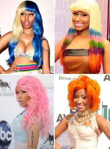 Nicki Minaj color wigs