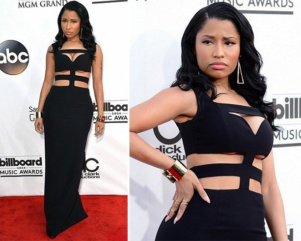 Nicki Minaj in Alexander McQueen gown