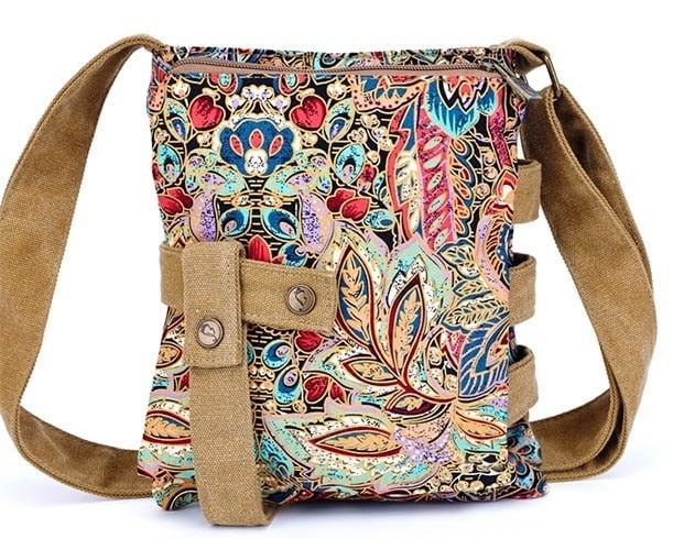 Old canvas messenger bag