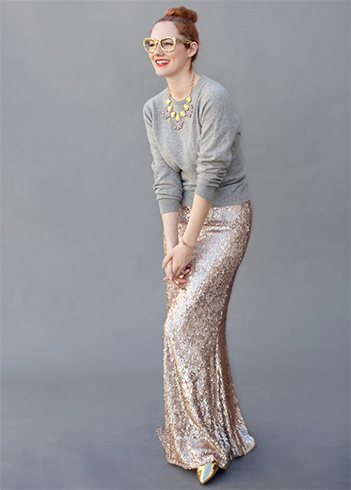 Sequin Skirt Outfit
