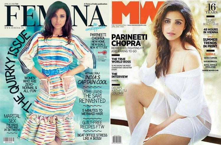 Parineeti Chopra on April 2016 Magazines