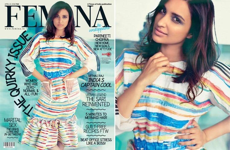 Parineeti Chopra on Femina April 2016 Magazine