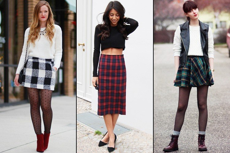 Awesome Ways To Wear Plaid Skirt Outfit