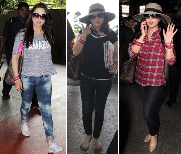 Preity Zinta At Airport