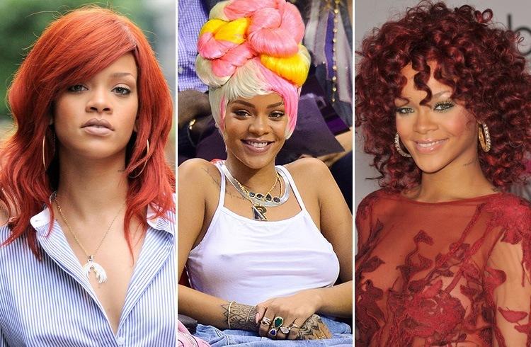 Rihanna color wigs