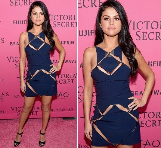 Selena Gomez In Cut Out Dresses