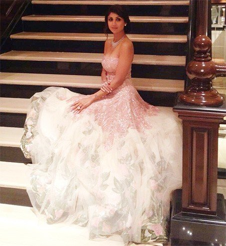Shilpa Shetty in Manish Malhotra Gown