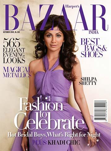 Shilpa Shetty on Harpers Bazaar