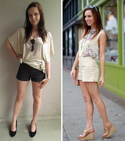 shorts with heels fashion