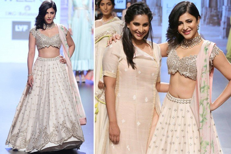 Shruti Hassan Walks for Anushree Reddy at LFW 2016