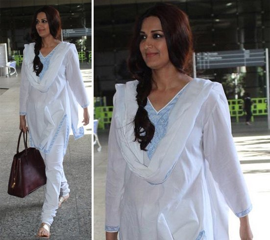 Sonali Bendre Airport Fashion