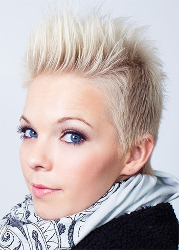 Spiked Up Icy Blond
