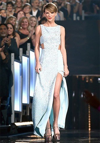 Taylor Swift Blue And White Dress